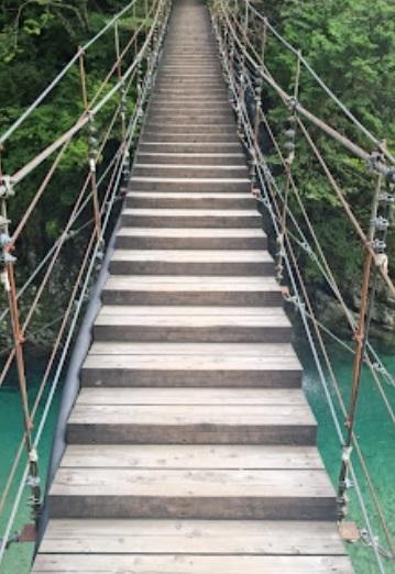 岩魚の里 峽のつり橋